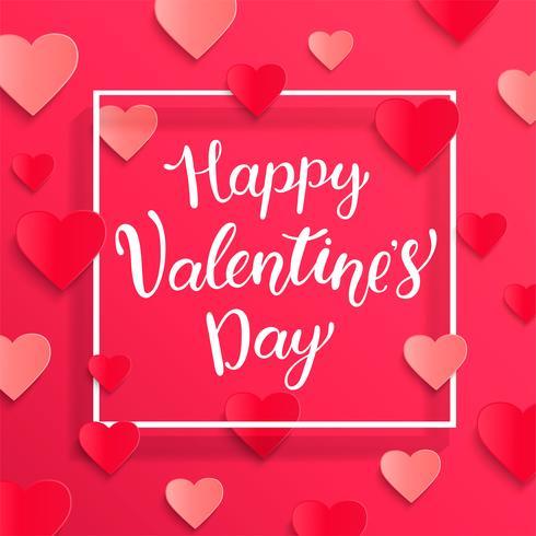 Kaart voor gelukkige Valentijnsdag. vector