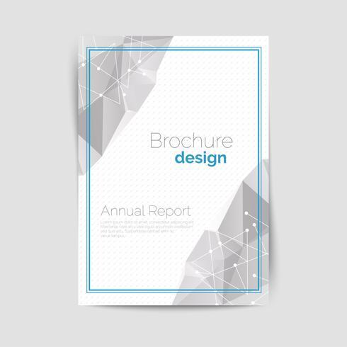 Geometrische brochure A4 vector