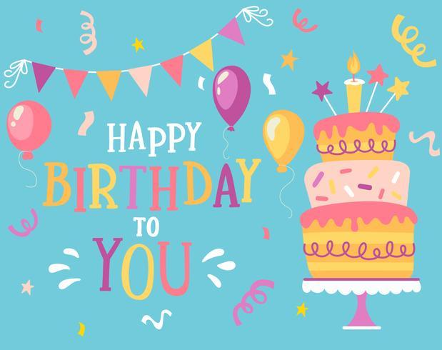 Ik wens je een gelukkige verjaardag. vector