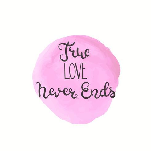 Romantisch citaat. Liefdetekst voor valentijnskaartdag vector