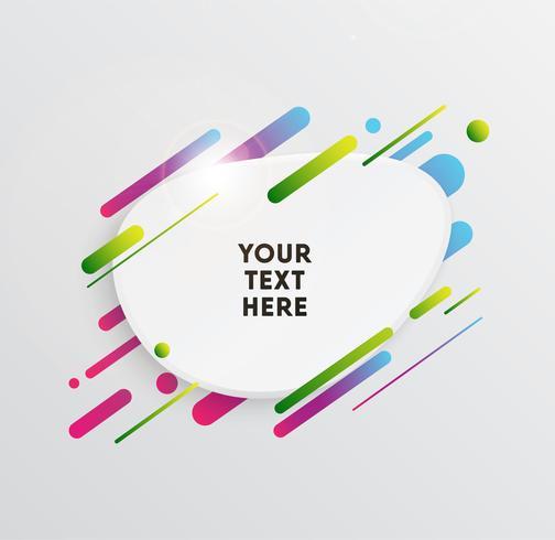 Vectorachtergrond met document kaart en abstracte kleurrijke vormen. Trendy neonlijnen en cirkelsbehang in een moderne materiaalstijl. vector