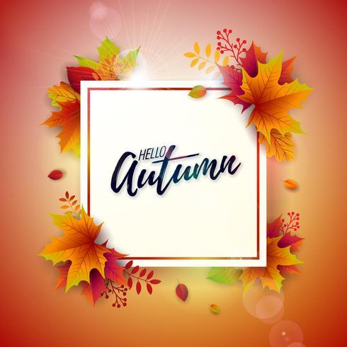 Herfst illustratie vector