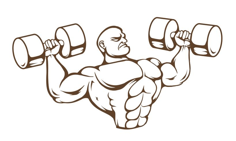 sportschool man vector