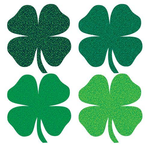 Saint Patrick's Day glittert klavers vector
