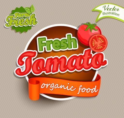 Verse tomaat vector