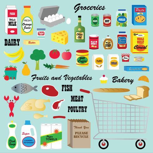 supermarkt clipart vector