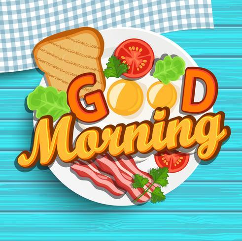 Goedemorgen vector