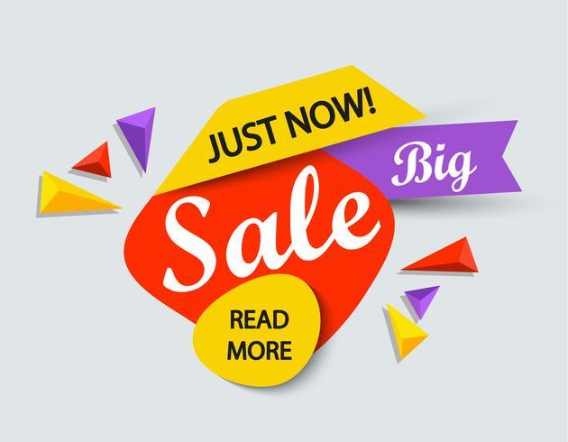 Zojuist verkoop banner. vector