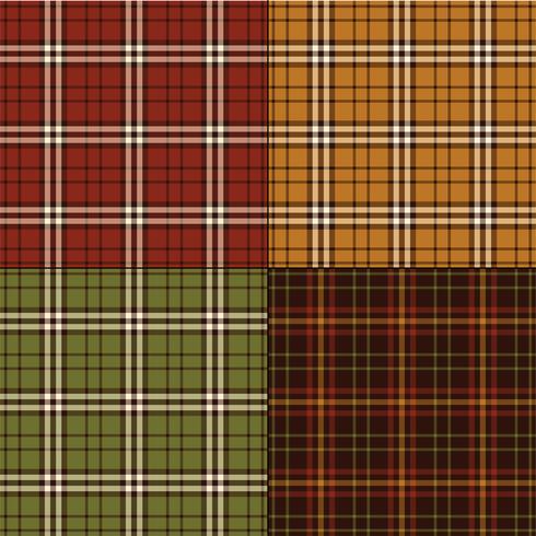 Thanksgiving kleuren plaids vector