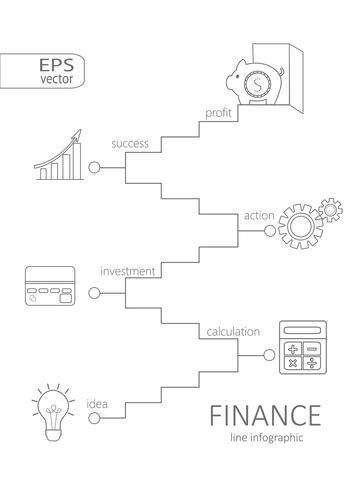 Infographic Financiën concept. vector