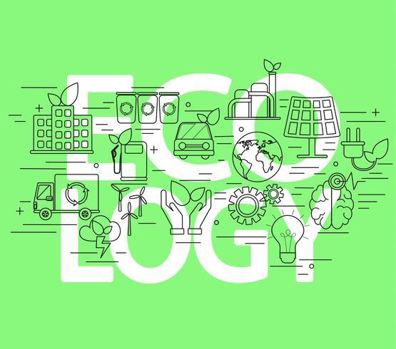 Concept van ecologie. vector