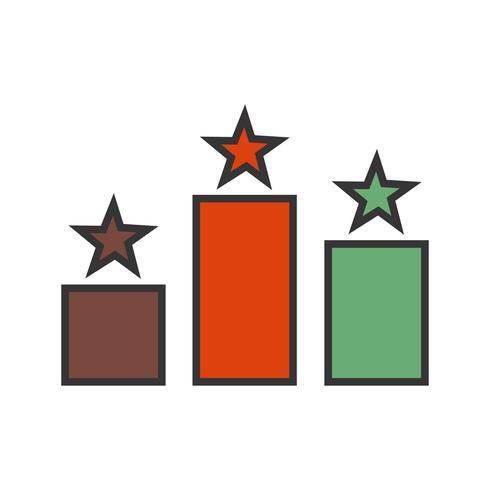 Lijn gevuld pictogram vector