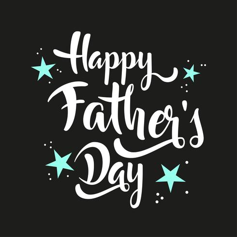 Happy Father's Day belettering whit sterren. vector
