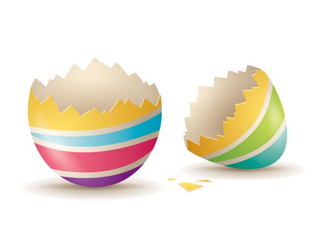 Gebarsten eierschaal vector