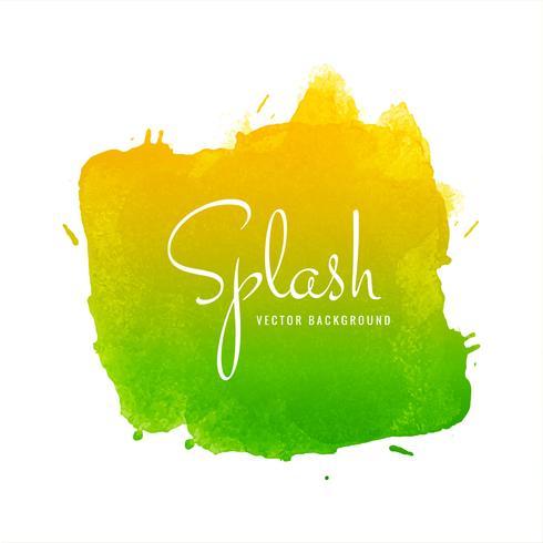Aquarel kleurrijke splash vector