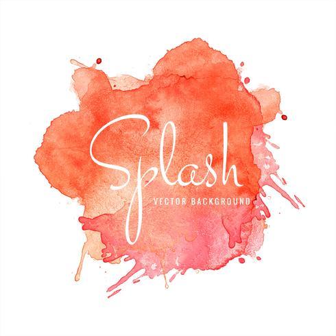 Elegante kleurrijke splash aquarel achtergrond vector