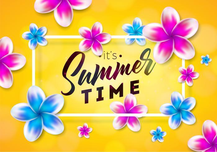 De illustratie van de zomertijd vector
