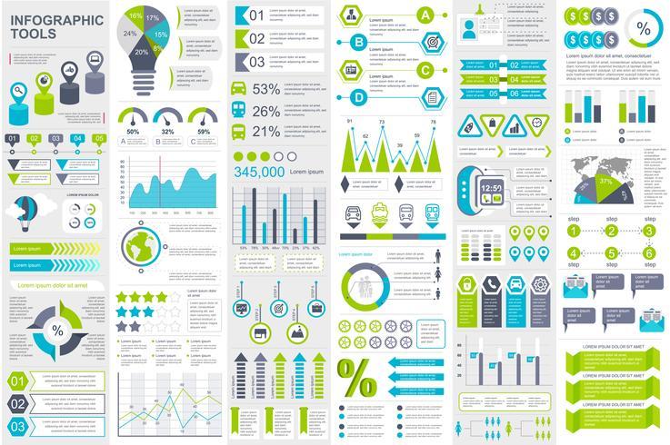 Infographic elementen data visualisatie vector ontwerpsjabloon