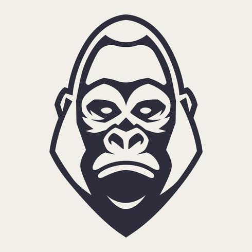 Gorilla mascotte vector pictogram
