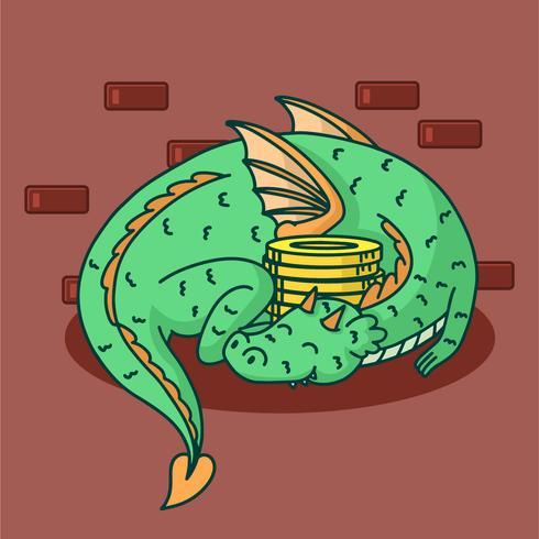 Dragon Wizard School Vector