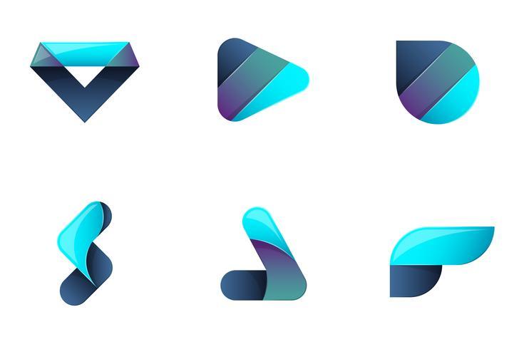 Modern minimaal Vectorembleem voor banner vector