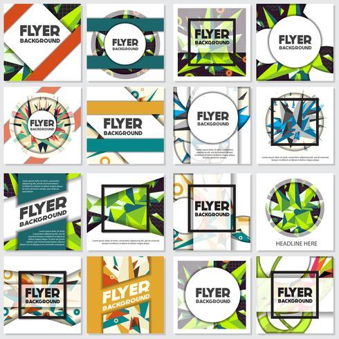 Laag Poly Flyer stijl achtergrond ontwerpsjabloon vector