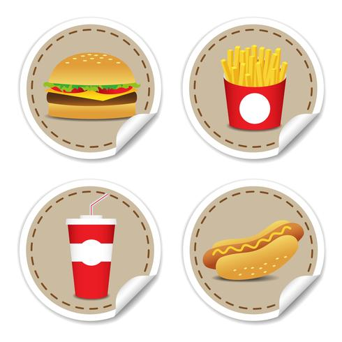 Fastfoodset 9 vector