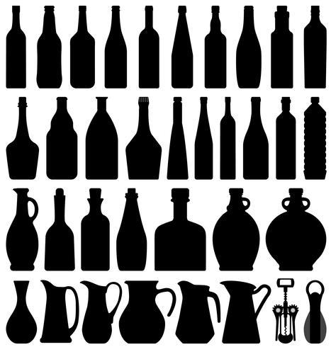 Wijn Bierfles. vector
