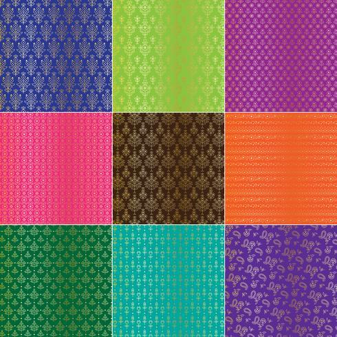 Gouden metallic Perzische patronen van Paisley vector