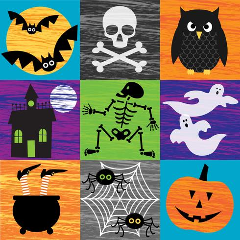 getextureerde halloween-afbeeldingen vector