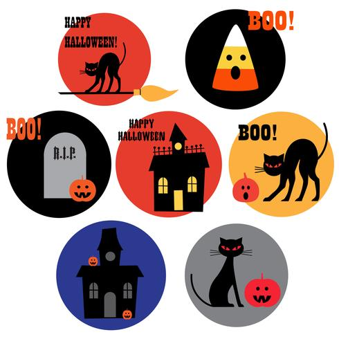 Halloween pictogrammen clipart vector