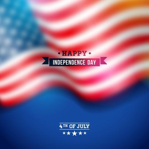 Onafhankelijkheidsdag van de VS Vectorachtergrond vector