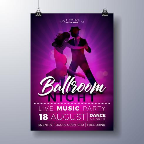 Ballroom Night Party Flyer illustratie vector