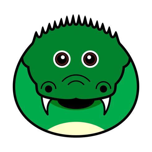 Schattig krokodil Vector. vector