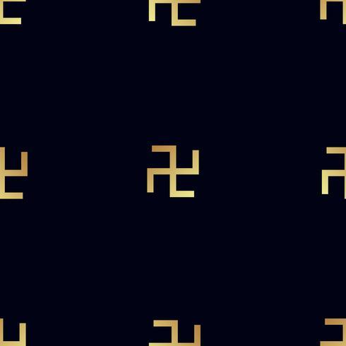 naadloos patroon. Roterend kruis vector