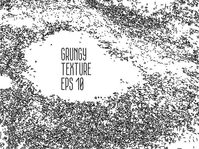 Grunge zwart-wit nood textuur. vector