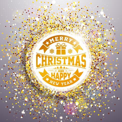 Vrolijke Kerstmis en gelukkig Nieuwjaar illustratie vector