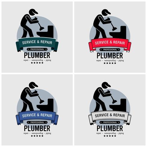 Loodgieter logo ontwerp. vector