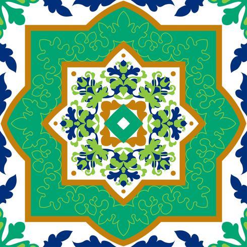 Spaanse klassieke keramische tegels. Naadloze patronen. vector