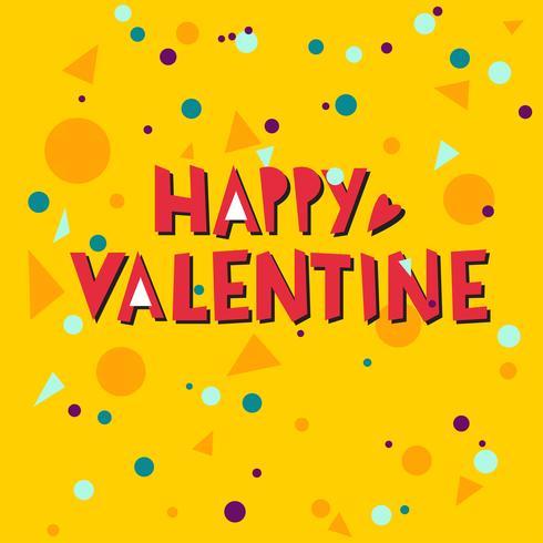 Happy valentine hand belettering vector