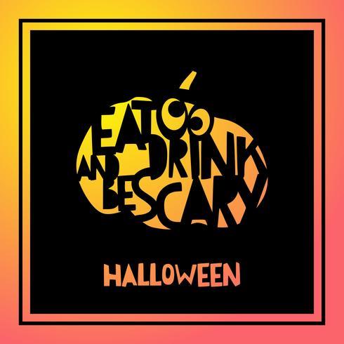 Lasersnijden sjabloon pompoen voor Halloween. vector