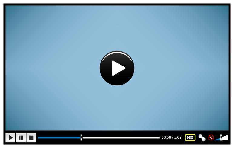 Video Movie Media Player. vector