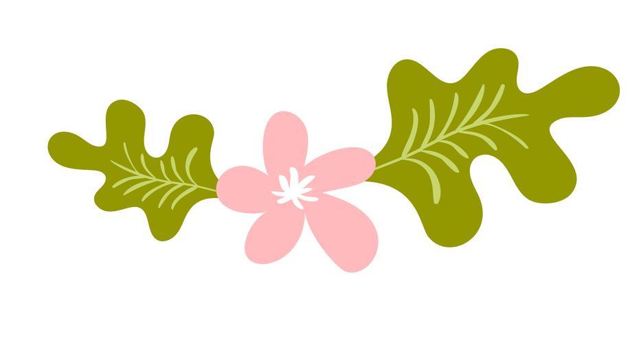 Leuke vector geïsoleerde bloem op witte achtergrond