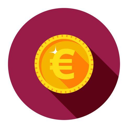 gouden munt. De vlakke stijl. vector