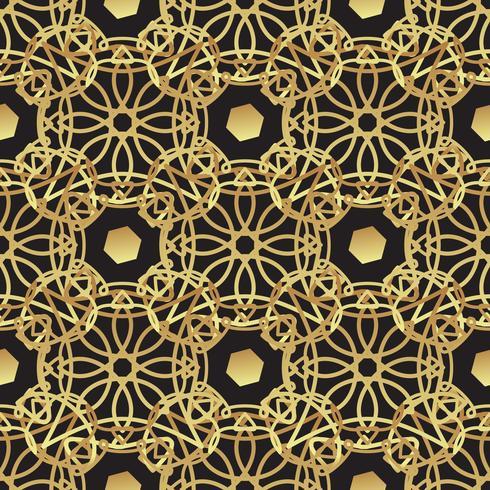 Vintage luxe gouden achtergrondart deco vector