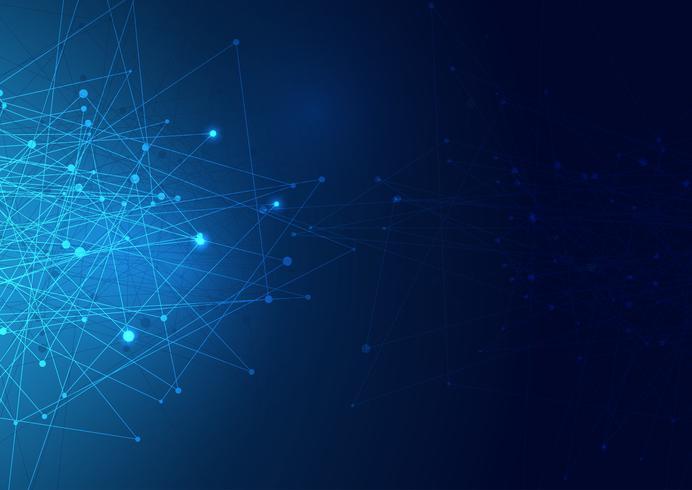 Abstracte netwerkverbindingen achtergrond vector