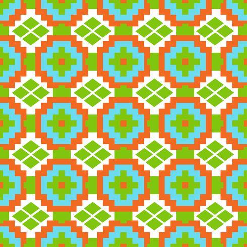 Mexicaans Folkloric tracery textiel naadloos patroon vector