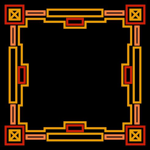 Frame met gouden geometrische vector