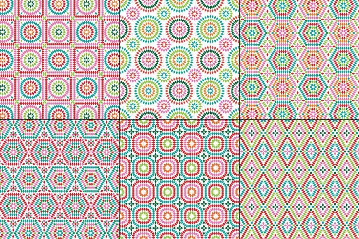 oma vierkante patronen op een witte achtergrond vector
