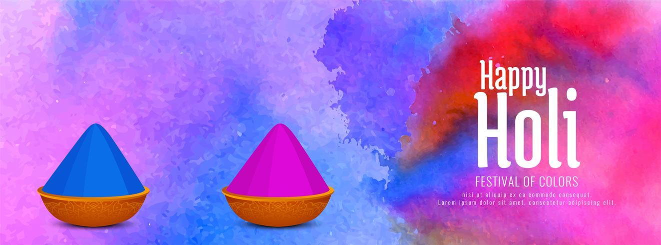 Abstracte gelukkige Holi Indian festival banner vector